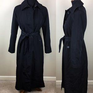 London Fog long lined rain trench coat size 4p